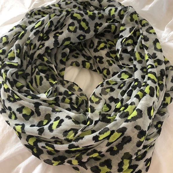 ac96125feb Accessories | Neon Leopard Animal Print Full Length Scarf | Poshmark